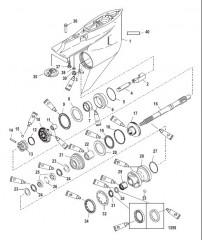 Схема Картер редуктора Вал гребного винта – противовращение