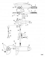 Двигатель для тралового лова в сборе (Модель FW46HT) (12 В)