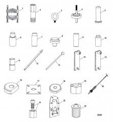 Схема Список инструментов (Сухой поддон) Six/NXT6 SSM – Транец
