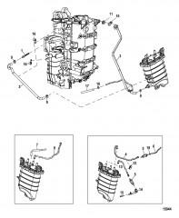 Схема Шланги блока подачи топлива