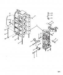 Схема Блок цилиндров и картер в сборе