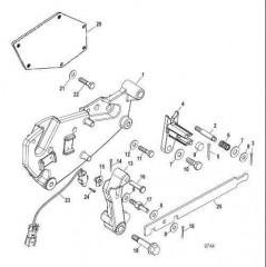 Компоненты кронштейна переключения передач (Bravo – конструкция II)