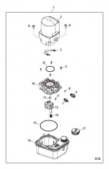 Компоненты насоса системы дифферента и двигателя