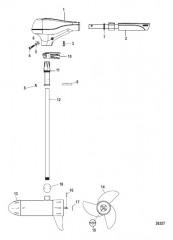 Двигатель для тралового лова в сборе