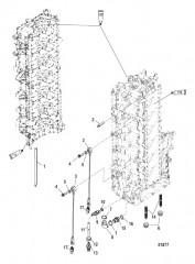 Компоненты блока цилиндров с левого борта