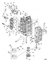 Схема Блок цилиндров и колпачок