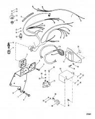 Схема Электрические компоненты (Сер. номера от 0A398941 до 0D763854)