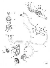 Схема Рулевой механизм с усилителем