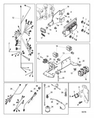 Схема Electrical Components (Digital Throttle and Shift)