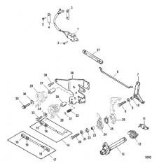 Тяга газа/тяга управления переключением передач (Румпельная рукоятка переключения реверса)