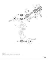 Схема Коленчатый вал, поршень и шатуны