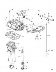 Схема Пластина выхлопа (С/н USA-0T801000/ BEL-0P268000 и выше)