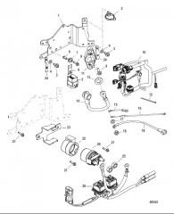 Схема Компоненты электрической панели С/н 1B884208 и выше