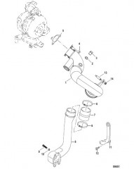 Схема EXHAUST PIPE Sterndrive