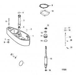 Схема Комплект удлинителя – 22.5 Корпус ведущего вала (824072A5 / A6)