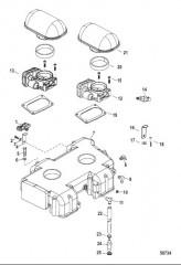 Воздухозаборная камера и компоненты