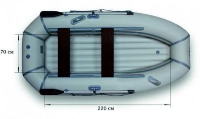 Гребная надувная лодка «ФЛАГМАН - 300NТ»
