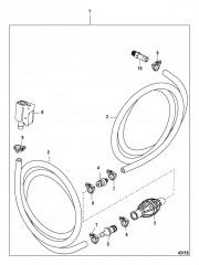 Схема Топливопровод в сборе (не EPA) Разъемное соединение зажимного типа – шланг с низкой проницаемостью