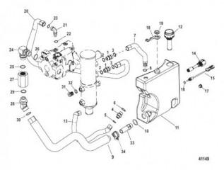Схема Гидравлическая система Правый борт