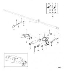 Схема Рычаг газа в сборе Механическое управление газом/реверсом
