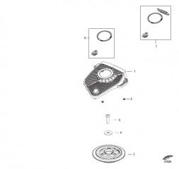 Схема Маховик и крышка