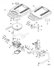 Схема Throttle Body Mechanical Throttle and Shift