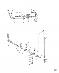 Тяга управления дроссельной заслонкой/переключением передач