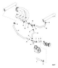 Система охлаждения Компоненты для неочищенной воды, правый борт