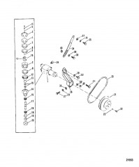 Схема Насос для забортной воды в сборе (Сер. номера от 0A398941 до 0D725499)