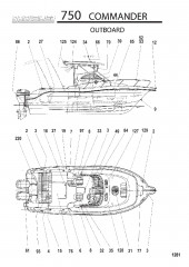 Схема МОДЕЛЬ 750 COMMANDER (Подвесной)