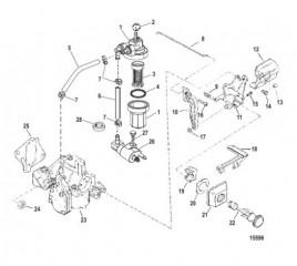 Схема Компоненты топливной системы (USA-1B153168/BEL-0P365662 и выше)