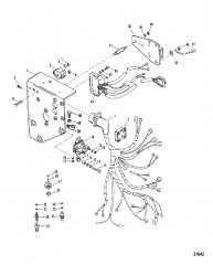 Схема Электрические компоненты (Сер. номера от 0D763855 до 0D937011)