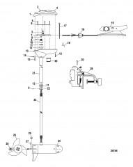 Двигатель для тралового лова в сборе (Bulldog 54) (12 В)