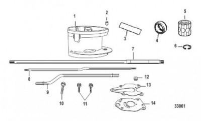 Схема Комплект удлинителя – корпус ведущего вала (828032A1/A2)