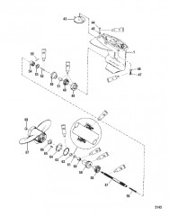 Схема Картер редуктора Вал гребного винта – передаточное число 2.25:1