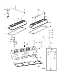 Схема Cylinder Head and Rocker Cover