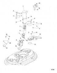 Схема Направляющая вала, двигатель