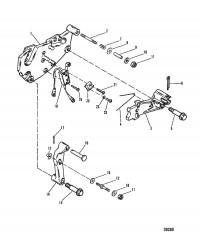 Схема Кронштейн переключения передач (НОВАЯ КОНСТРУКЦИЯ)