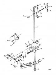 Передаточный вал и тяга газа 0E009500-0E093699