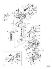 Схема Карбюратор (Mercarb) от 0D447415 до 0D836075