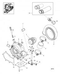 Схема Турбонагнетатель Турбина в сборе