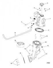 Схема Выхлопная система Промежуточная труба и коленчатый патрубок