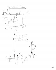 Двигатель для тралового лова в сборе (Модель TT3600) (12 В)