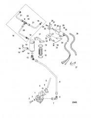 Схема Топливный насос в сборе