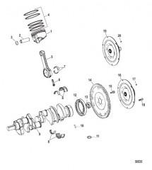 Компоненты двигателя (Коленчатый вал / поршень / шатуны)