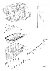 Схема Блок цилиндра Маслосборник