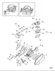 Корпус дроссельной заслонки Механическое управление газом/реверсом