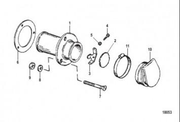 Комплект механизма выхлопа через транец (3