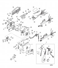 Дистанционное управление – 4000, боковая установка (Усилитель дифферента)