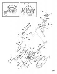 Схема Корпус дроссельной заслонки Механическое управление газом/реверсом